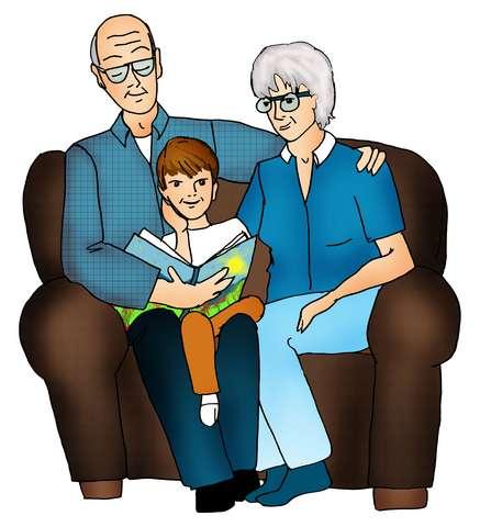 Grandparents w kids