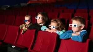Kids in the cinema